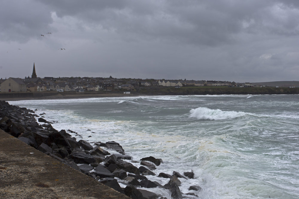 The wind is absolutely howling on the coast.