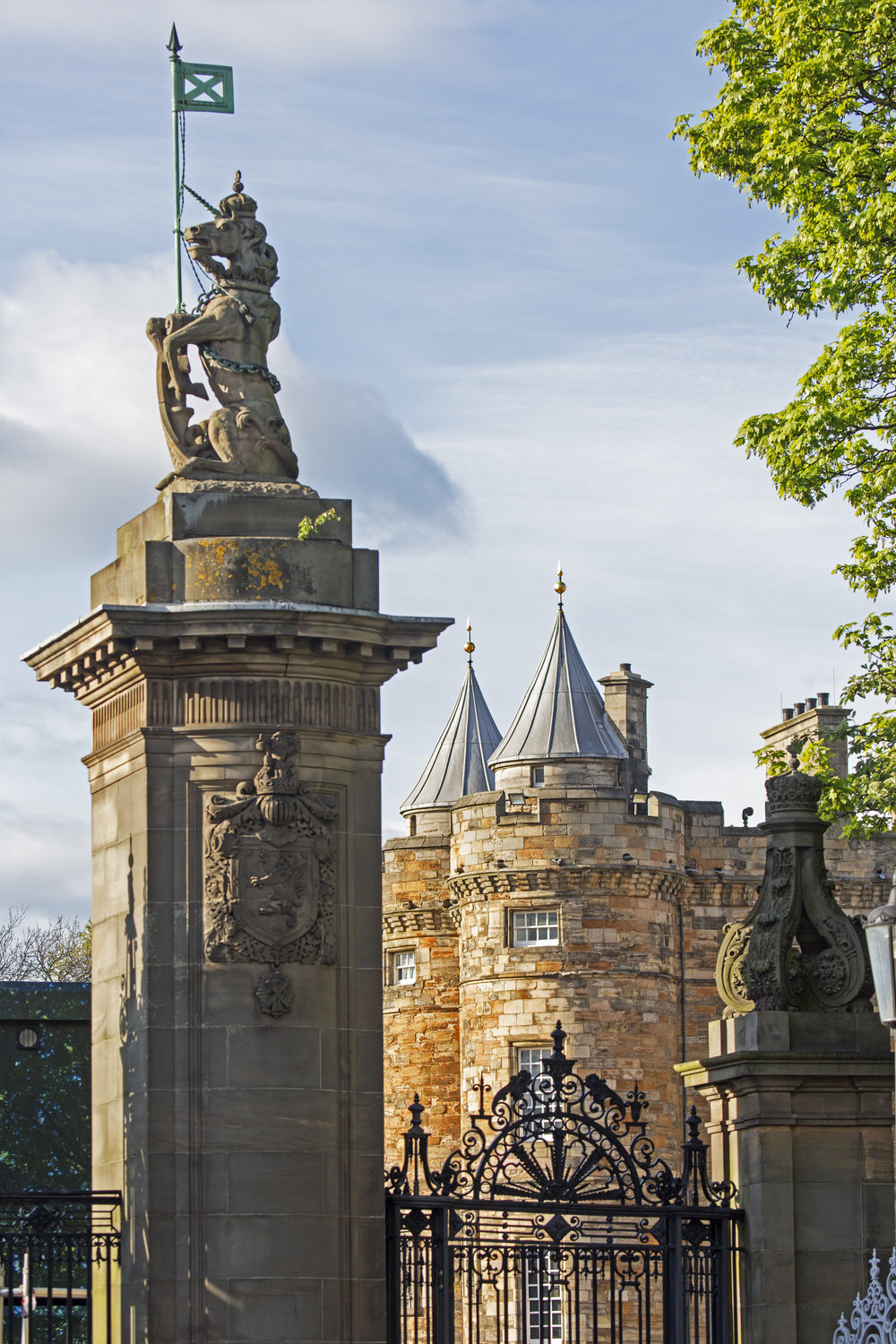 The Palace of Holyroodhouse, the official residence of the Queen when she visits Scotland.