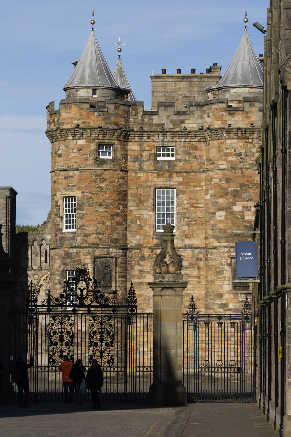 The Palace of Holyroodhouse.