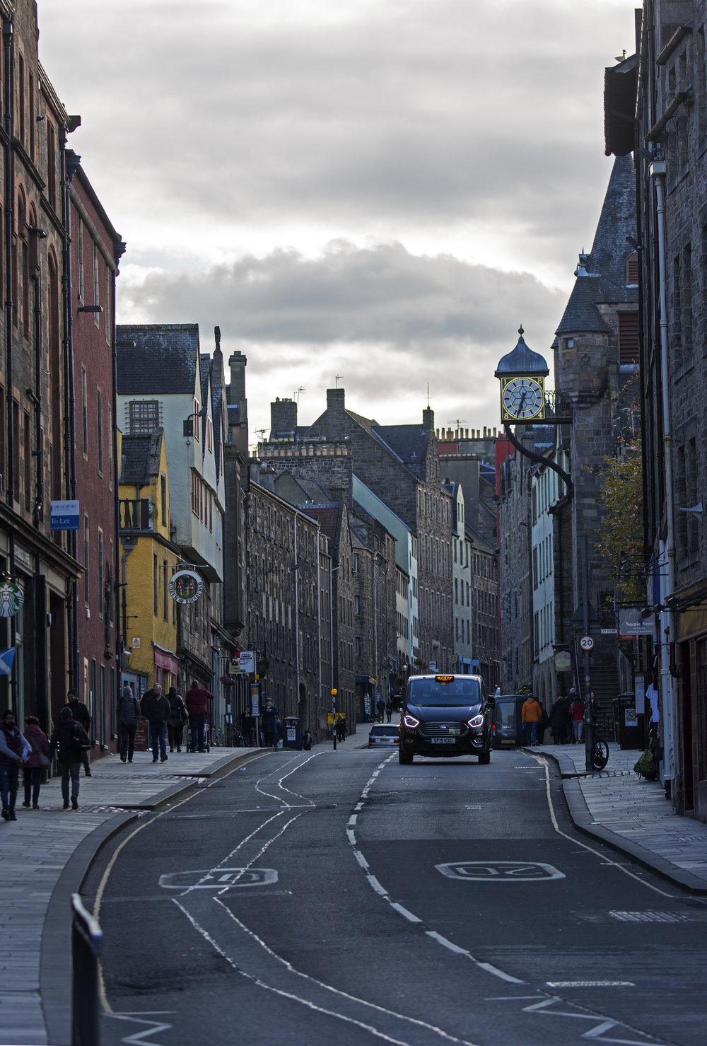 The Royal Mile on a quiet night.