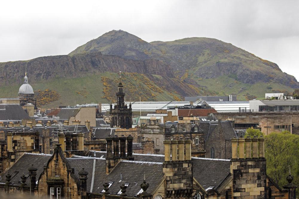 Arthur's Seat, the dormant volcano that rises above Edinburgh.