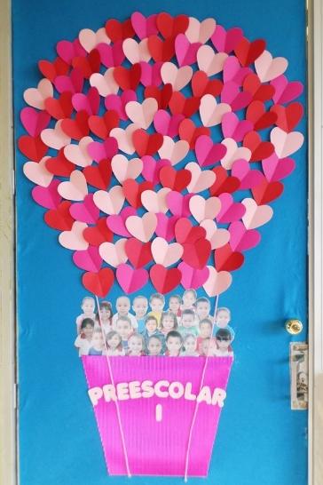 Puerta De Clase Decorada San Valentin