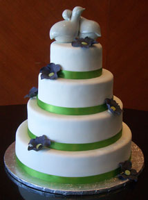 This is a plain fondant cake. Note the extremely smooth texture.