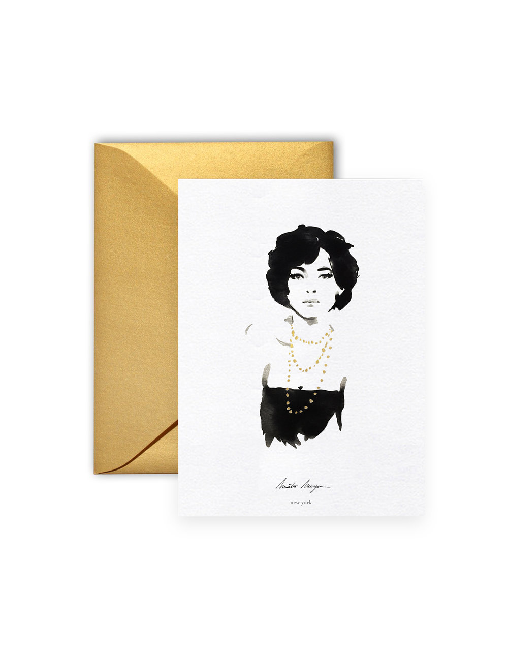 Greeting card isabelle live fashion illustration new york city greeting card isabelle m4hsunfo