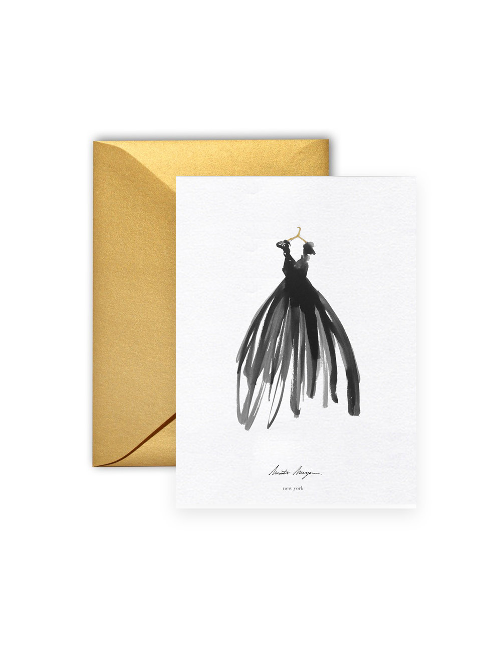 Greeting card the dress live fashion illustration new york city greeting card the dress m4hsunfo