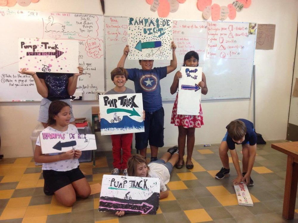 The kids of Costa Verde School have been working on this lovely signs.