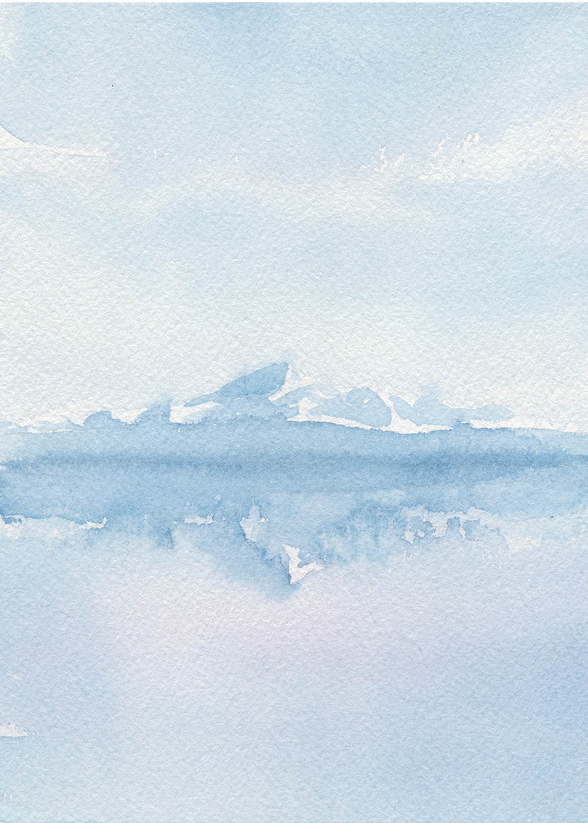 Mount Baker painting