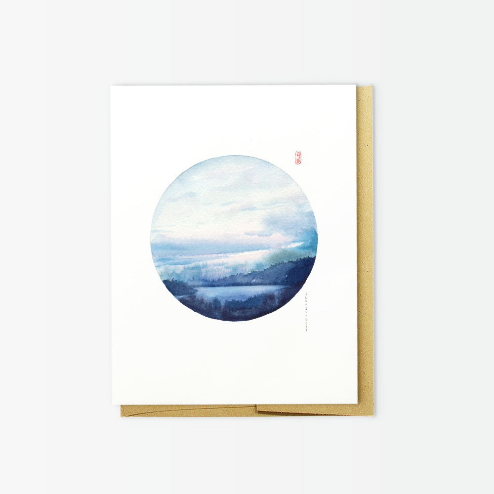 Canadian landscape watercolor greeting cards by Wanru Kemp