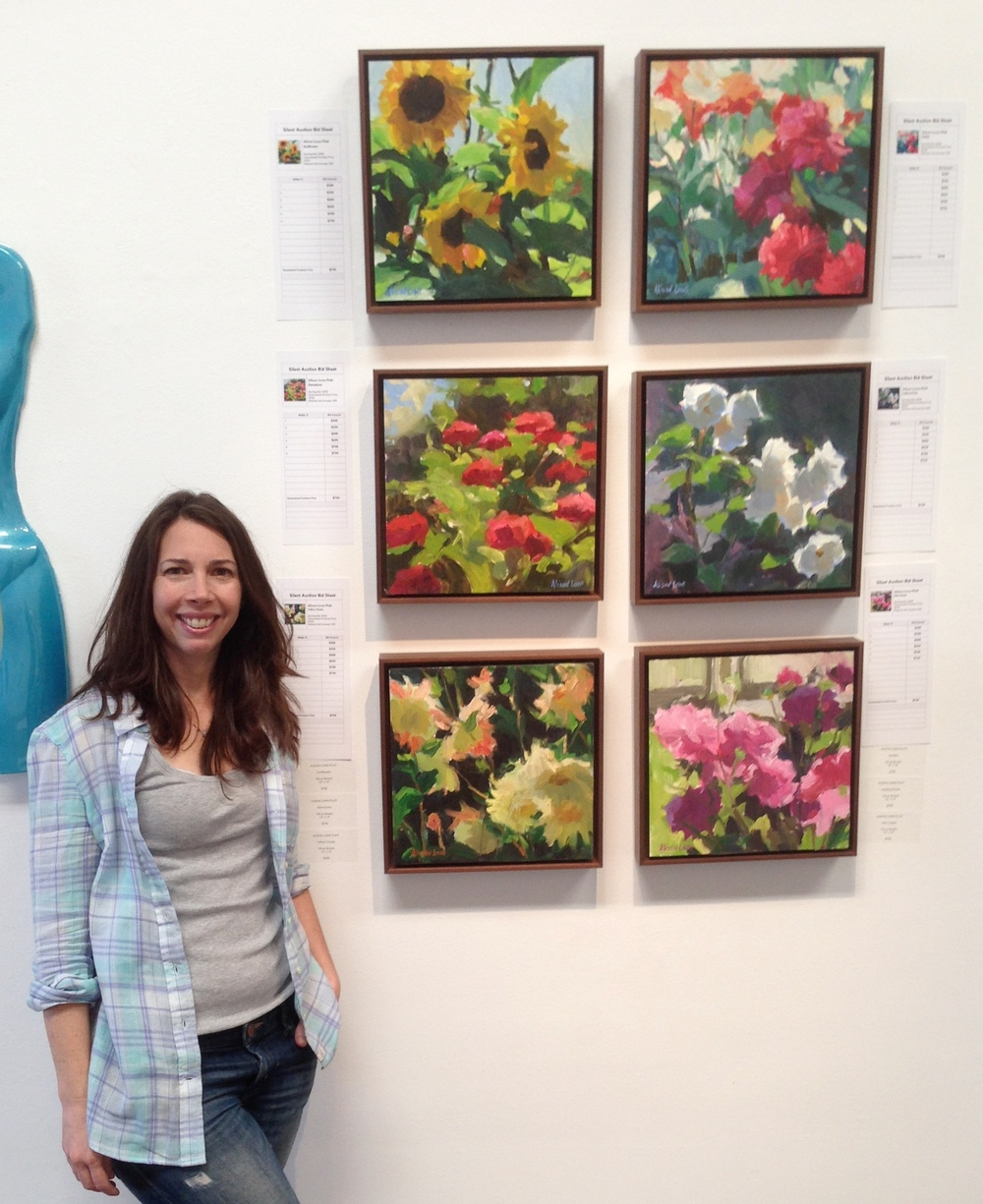 at TAG Gallery with some of my Garden paintings.