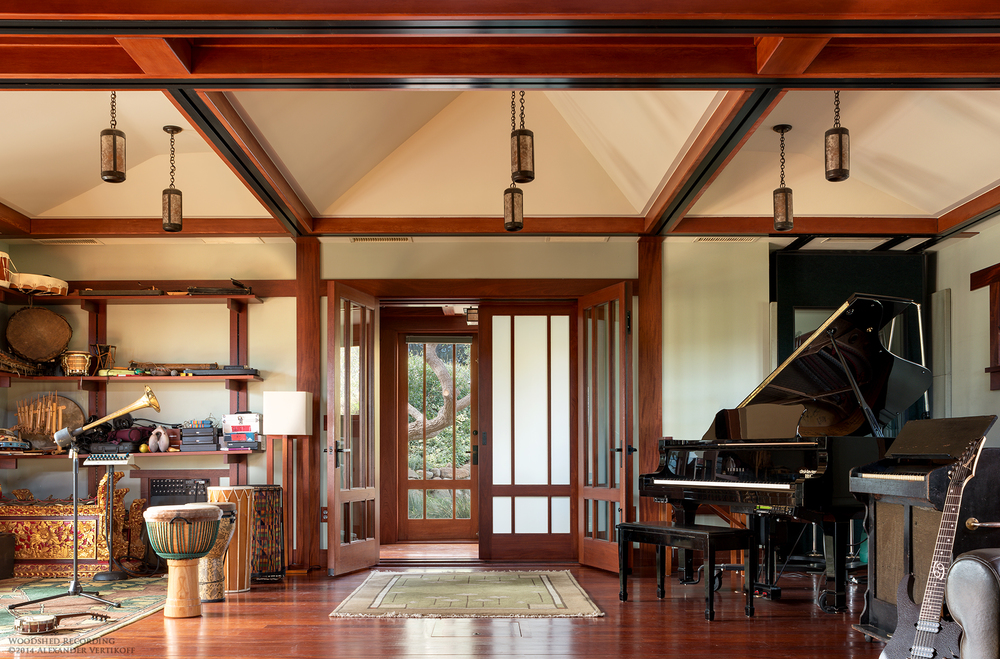 woodshed recording studio malibu interior