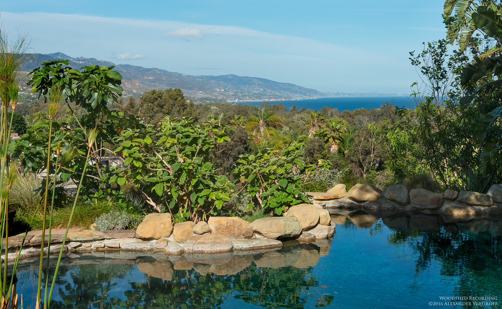 woodshed recording studio malibu ocean view from pool