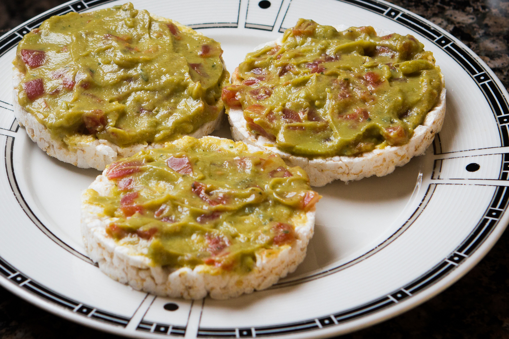 Avocado Spread with Rice Cake