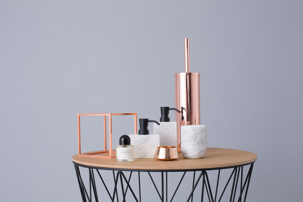 Dreamy marble and copper homewares available at  Designstuff . Photography:  Grace Petrou .
