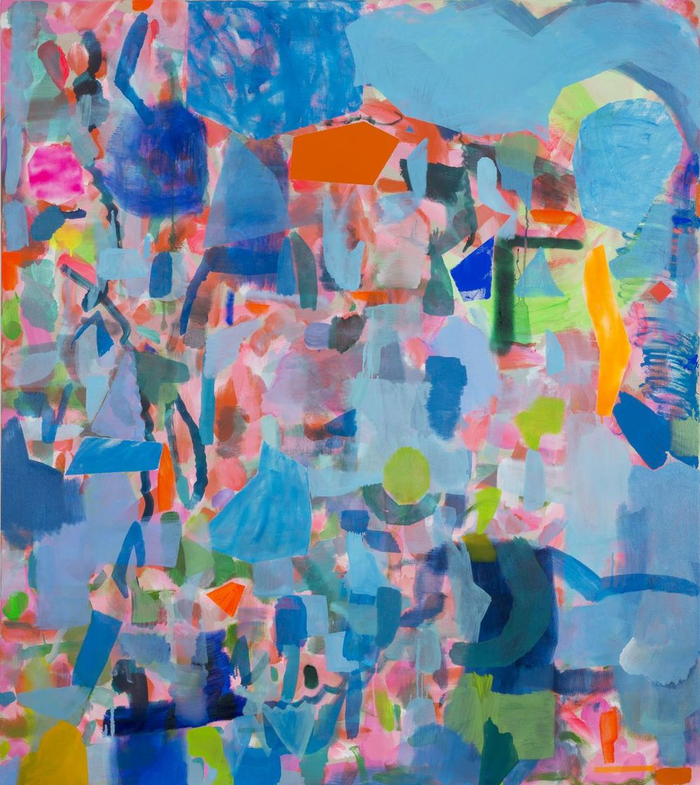 ' Fragments II 2016 ' Oil and acrylic on linen 152 x 137cm