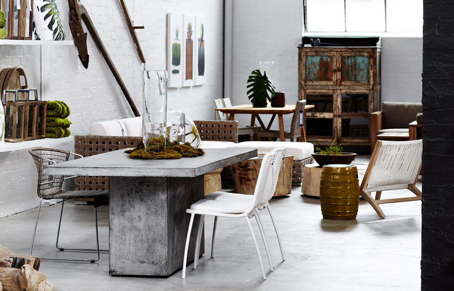 Weylandts, Abbotsford . An eclectic and interesting mix of statement furniture pieces, textural throws and stunning decorative objects originating from South Africa.
