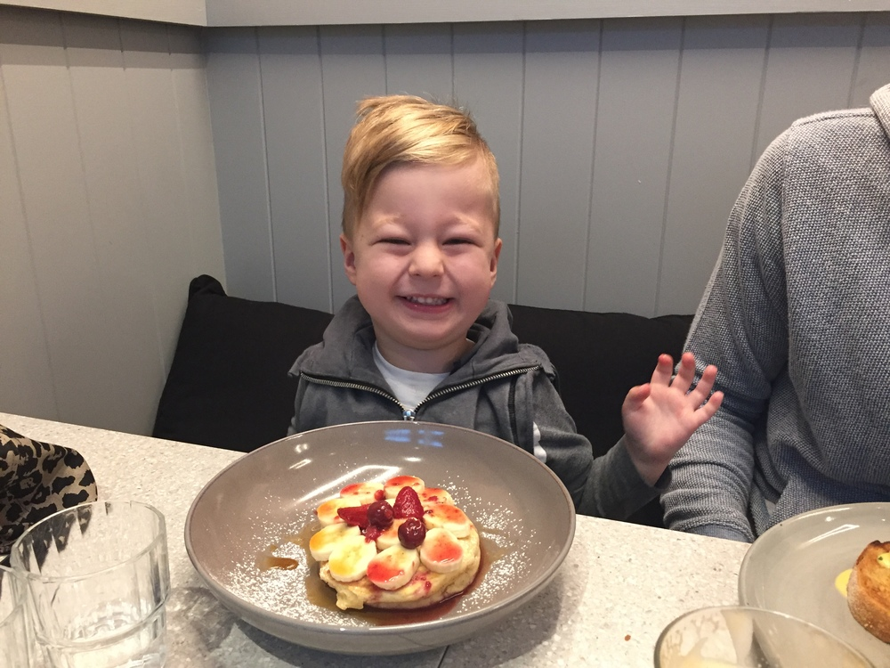 The kids menu has something for even the fussiest of eaters. Leo LOVED the fluffy wholemeal pancake with berries (and with just a modest splash of syrup it was the perfect brekky choice).
