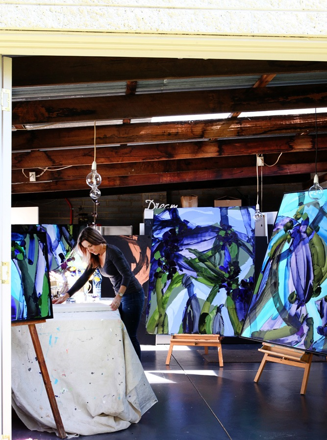Kerry in her studio photographed by  Tania Savage  for Engaging Women - read their interview on Kerry  here .