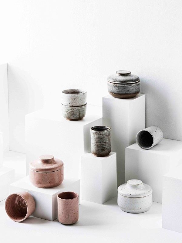 With a focus on quality hand craftsmanship and natural materials, Zakkia 16:02 is a collection of understated yet inherently unique design pieces for the home. The gorgeous speckle stoneware collection is perfect for the bathroom and provides gorgeous little vessles and dishes for all your trinkets. Shop the Zakkia range  here . Styling (header image also) – Corina Koch. Photo – Sam McAdam-Cooper.