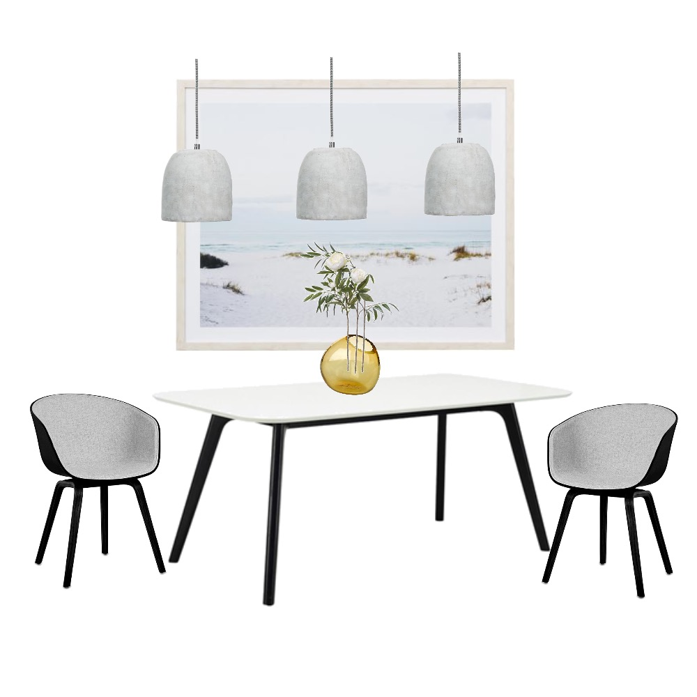 'Contemporary Coastal' dining room moodboard created by me!