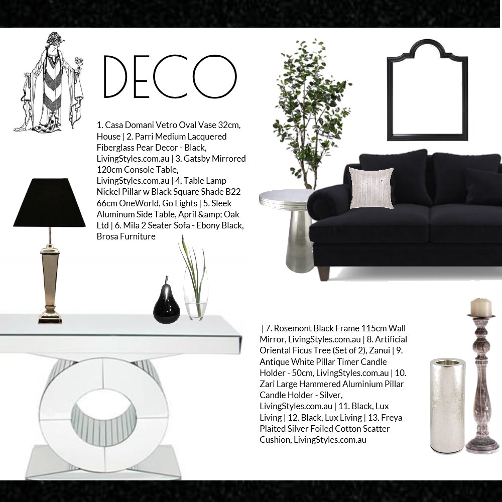 'Art Deco' moodboard by  Jo Taylor