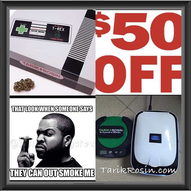 Where's my #midnighttokers at?? Time to trade that hair straightener in for a #trex 💯!! Go to TarikRosin.com to get $50 off using code TREX50.  Take a #dab for @tarikrosin 1 years old this month!! #dispensary #headshop #ommp #ore #hightimes #high #highlife #highsociety #dabs #dabstagram #dablife #dabbing #dabbersdaily #glassforsale #indica #sativa #solventless #rosin #rosintech #rosinpress #weed #weedstagram420 #smokeweedeveryday #hash #kief