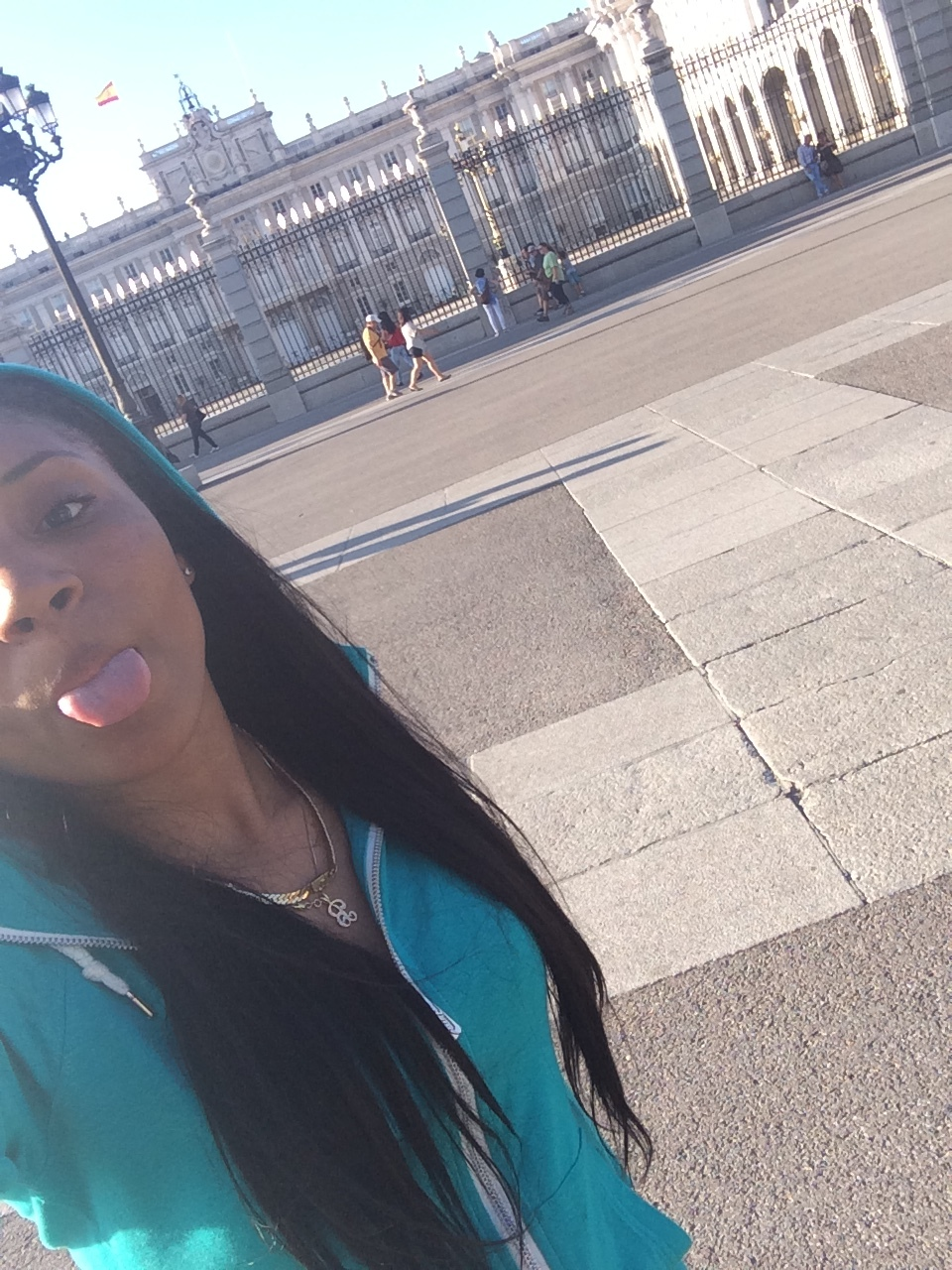 In front of the Royal Palace in Madrid.