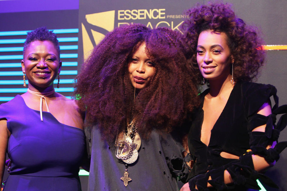 Vanessa DeLuca (EIC of Essence), Erykah Badu and Solange Knowles