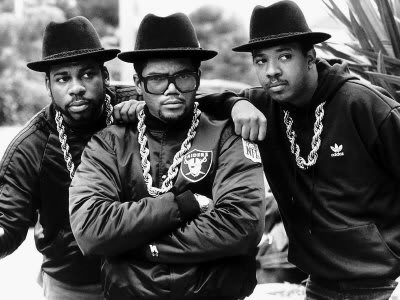 Run-DMC in what practically became their uniform.