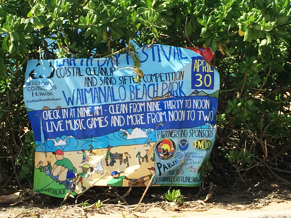 Sustainable Coatslines Hawai'i April 30th, beach clean up in Waimanalo!