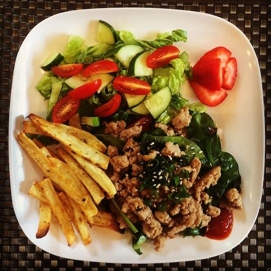 Asian Ground Turkey + Spinach