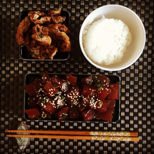 Ahi Poke + Pork Yakiniku