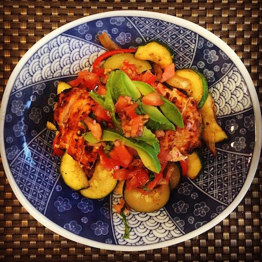 Grilled Chicken + Veggie Bowls