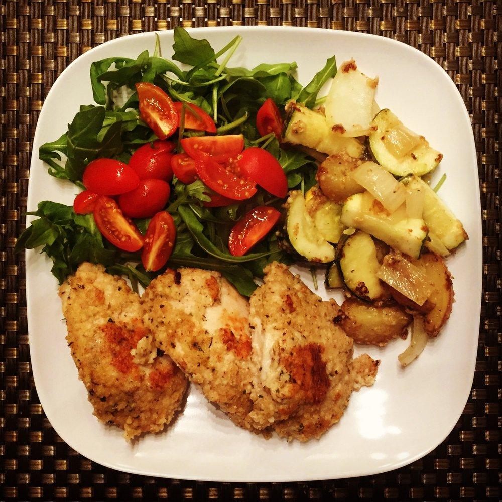 Baked Chicken + Veggies