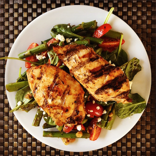 Balsamic Salad with Blackened Chicken