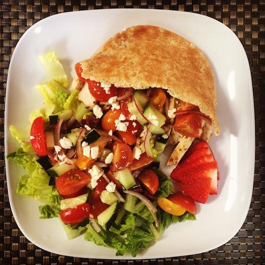 Greek Chicken Pita