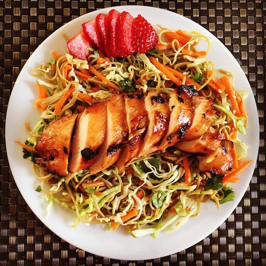 Asian Noodle + Veggie Salad