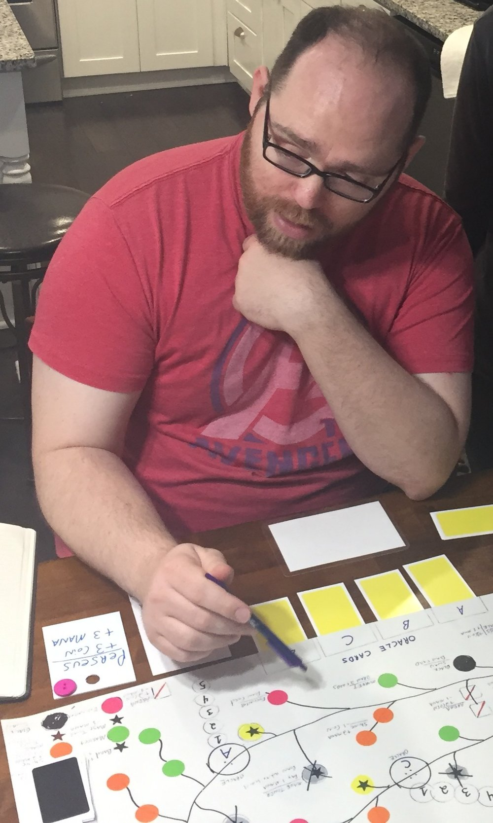 JR HONEYCUTT, PLAYTESTING PARADISE LOST DURING THEIR ATLANTA RETREAT EARLY 2018 (Waitress Games)