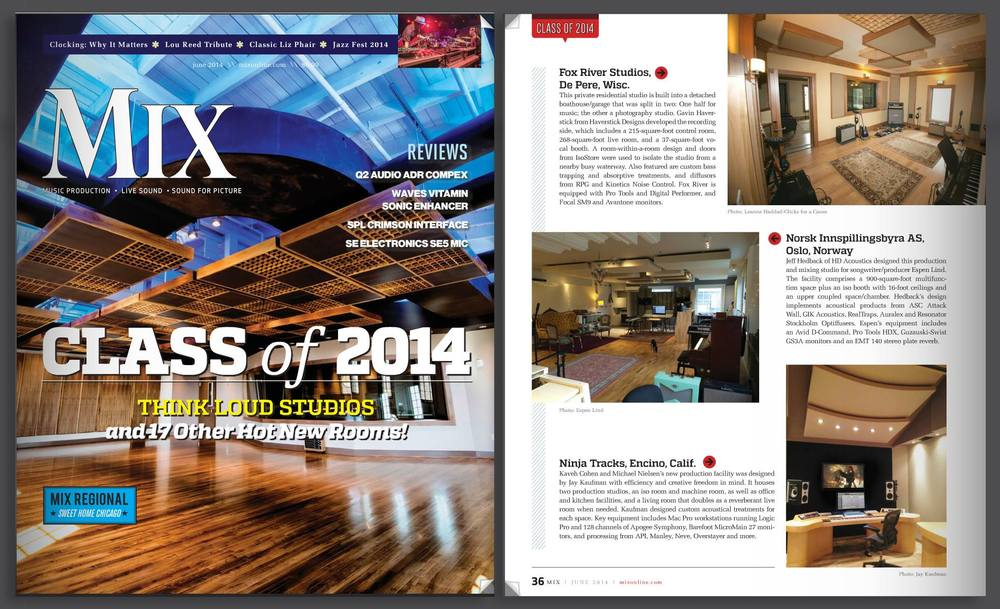 Ninja HQ featured in Mix Magazine