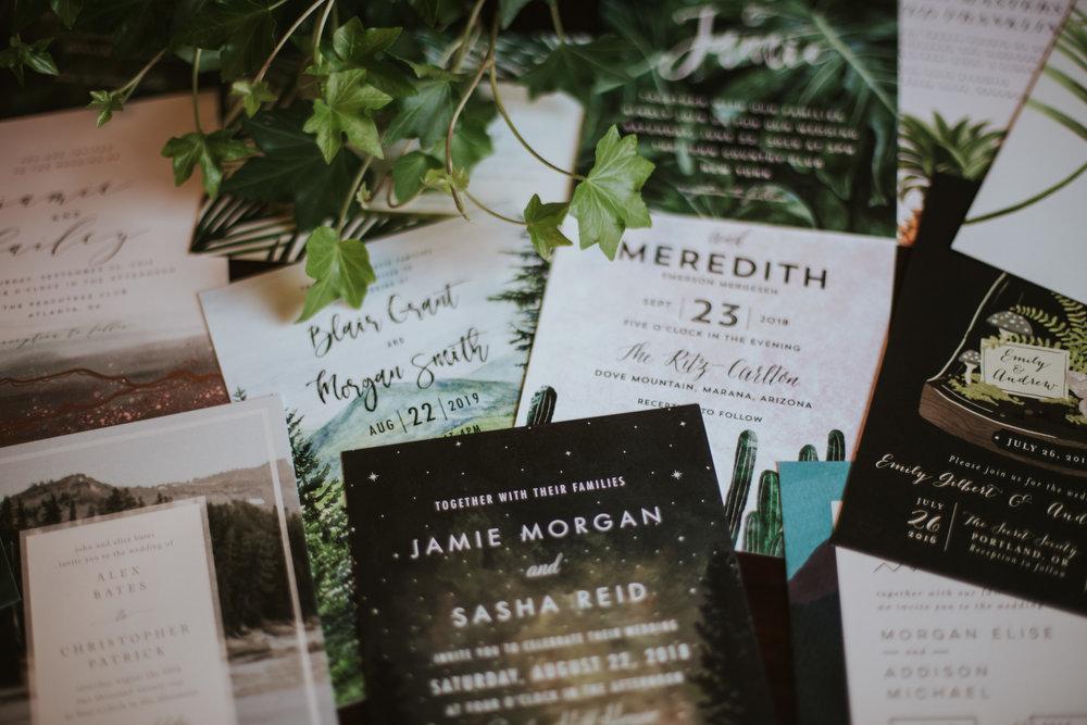 Minted Shine Elli Wedding Invitation Suites Guide Erika Ryan