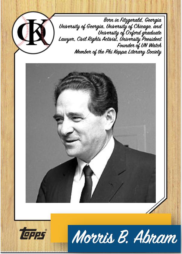 PK Baseball Card- Morris B. Abram.png