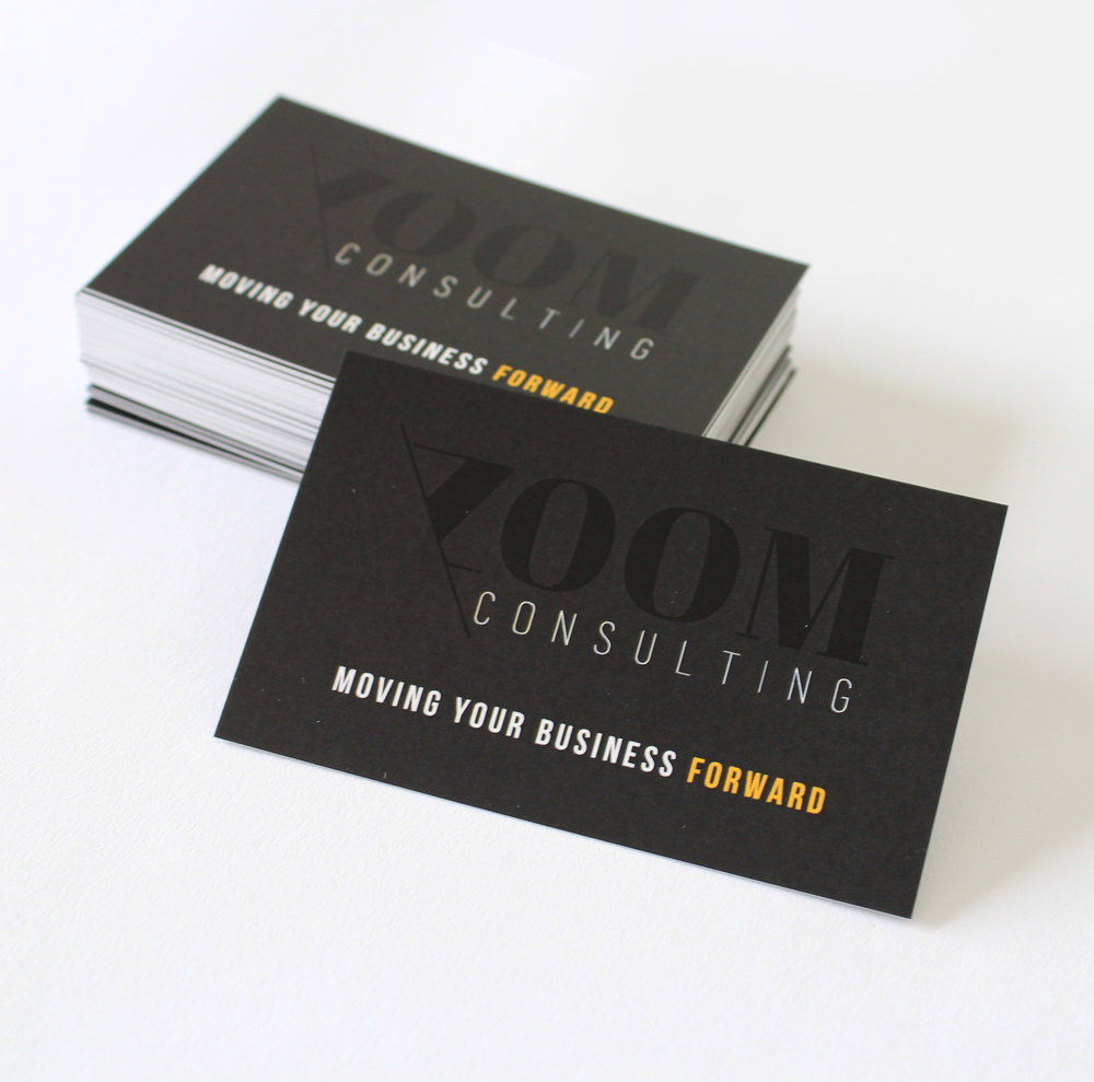 ZOOM CONSULTING  BUSINESS CARD AND LOGO DESIGN