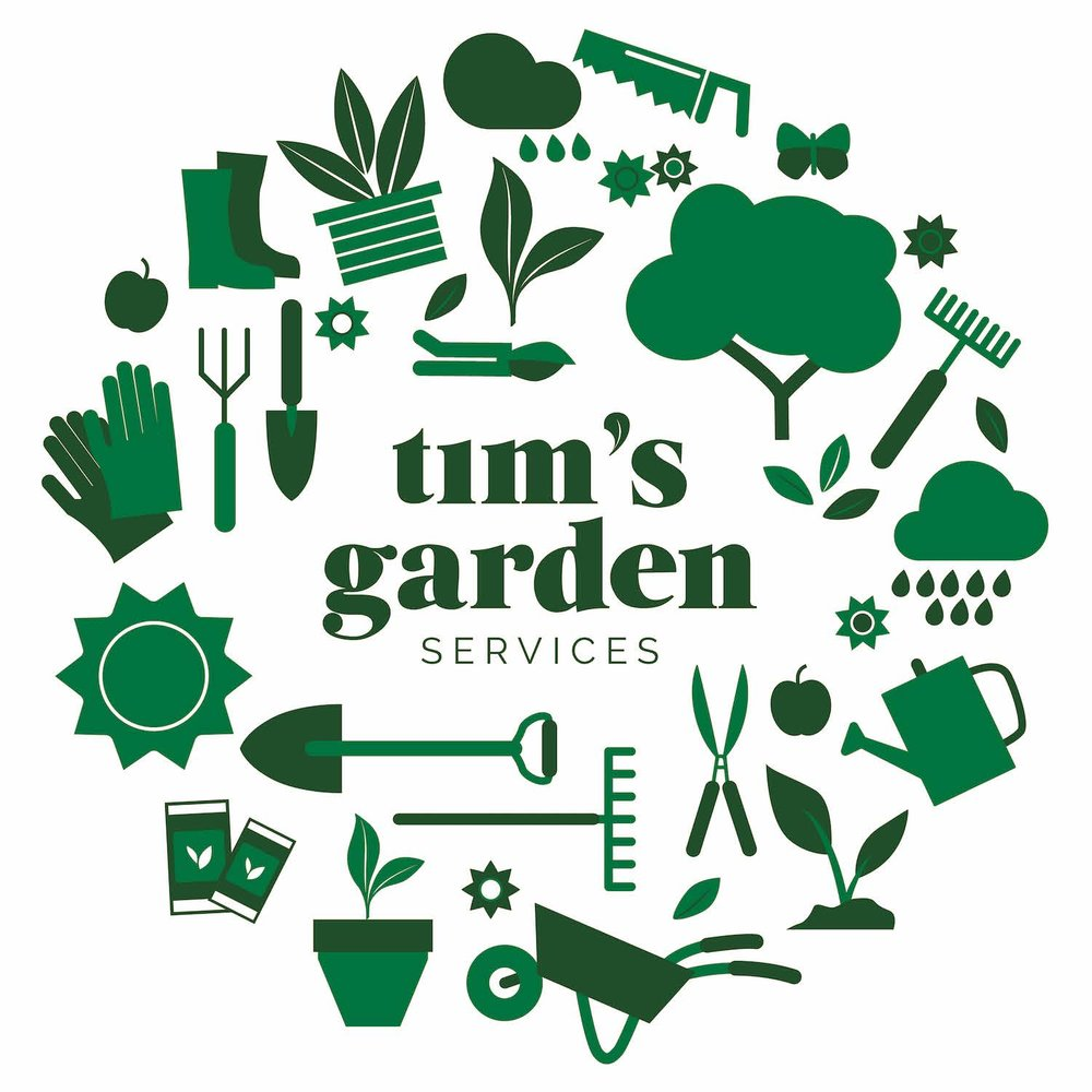 TIM'S GARDEN  LOGO AND ILLUSTRATIONS