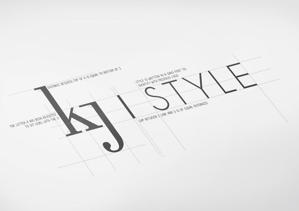 kj style  logo design + rebrand