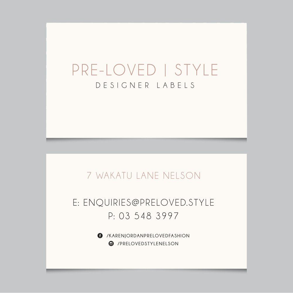 Pre-loved Style  business cards