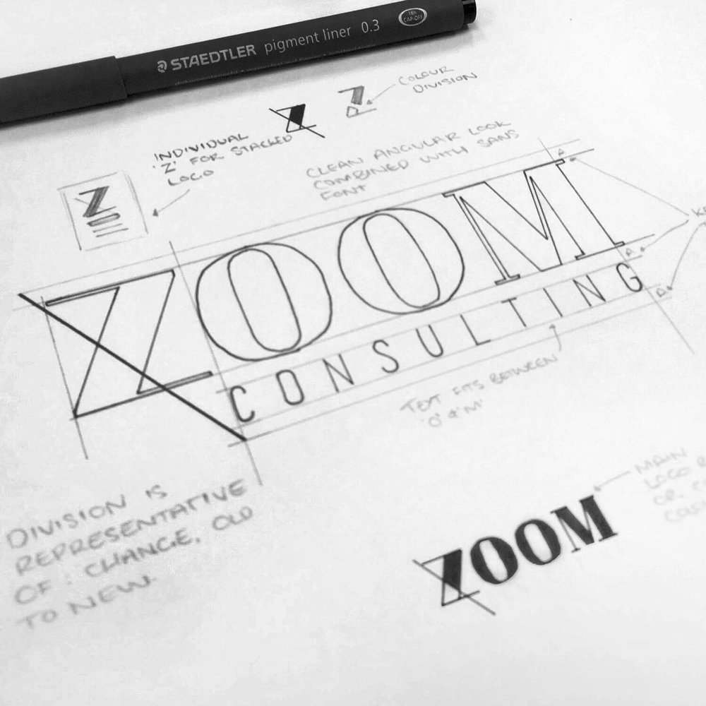 zoom consulting  brand identity design