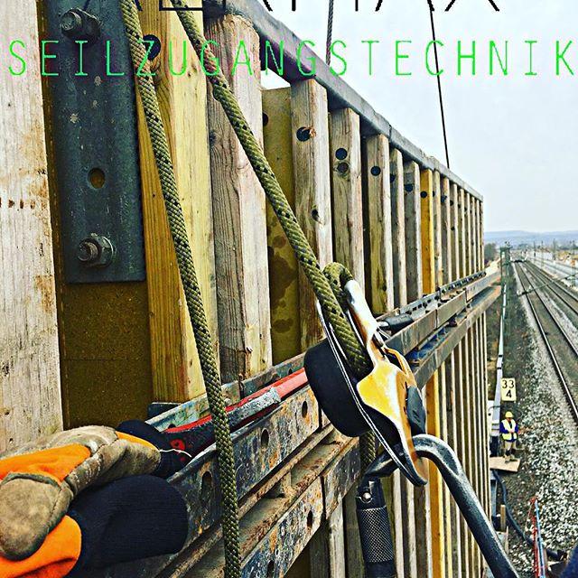 #schalungsarbeiten an einer #Brücke für die #deutschebahn mittels #industriekletterer von #aermax