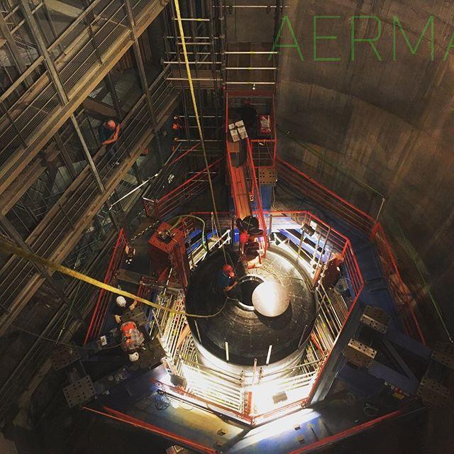 #sicherungsmaßnahme für #Behälterarbeiten mit #industriekletterer von #aermax