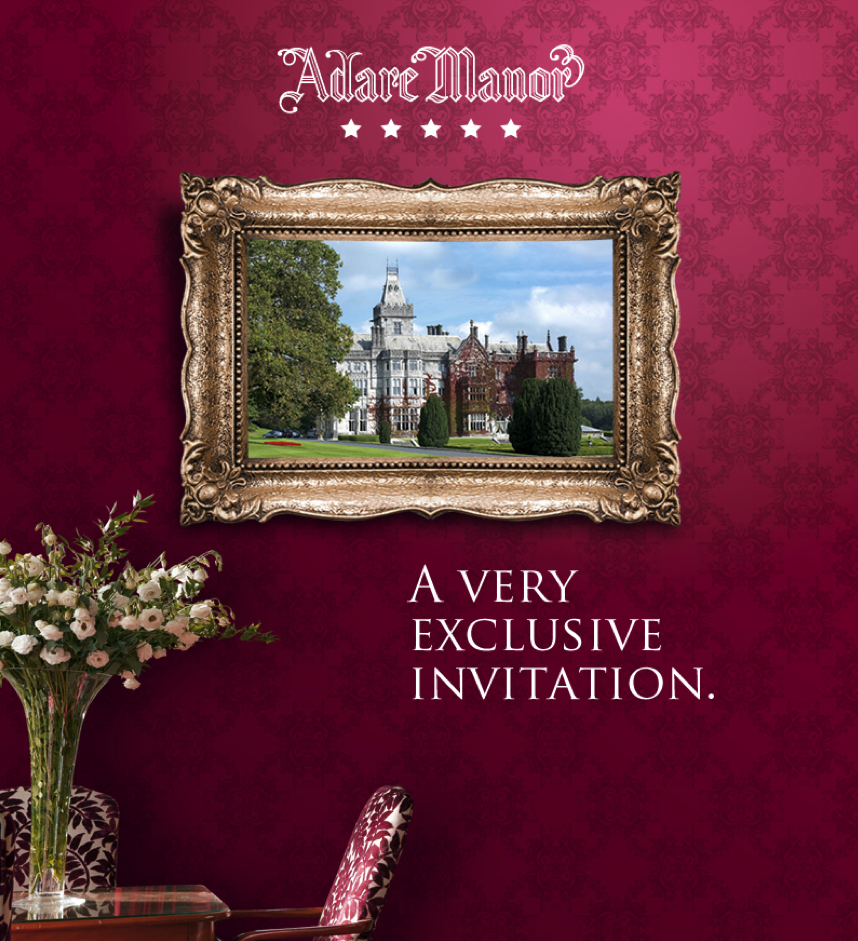 Adare Manor Luxury Business Event Invitation