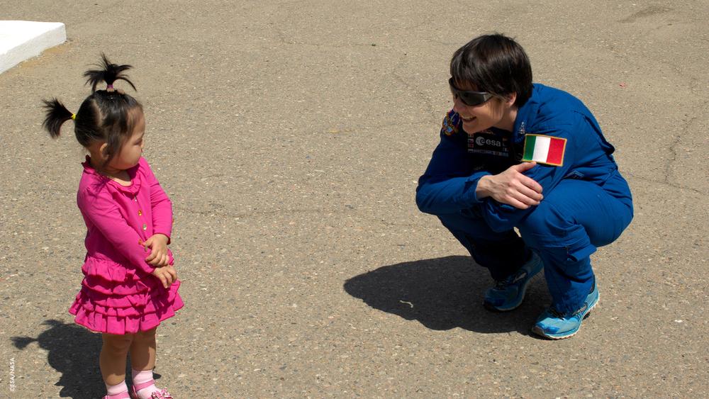 Una piccola amica a Baikonour
