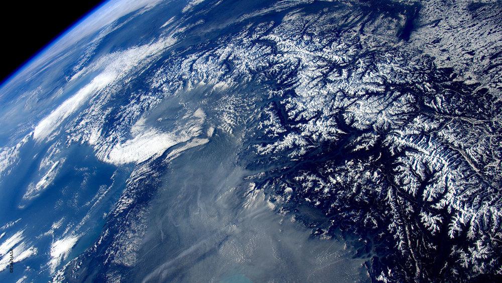 Un'altro dei miei paesaggi preferiti... le Alpi vestite per l'inverno!